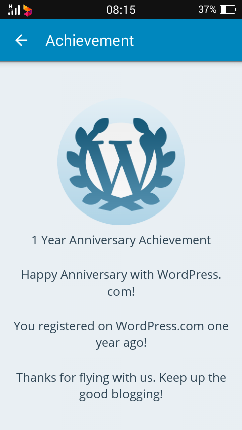 Blog Achievement